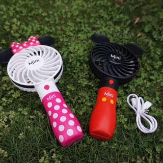 米奇米妮 哆啦A夢 社會人 卡通小風扇 臺式/手持式 可折疊 USB充電小風扇