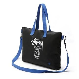 代購斯圖西stussy潮牌 防水包 手提包 單肩包 肩背包 側背包 斜背包 筆電包 大容量包包 男女包情侶款托特包購物包