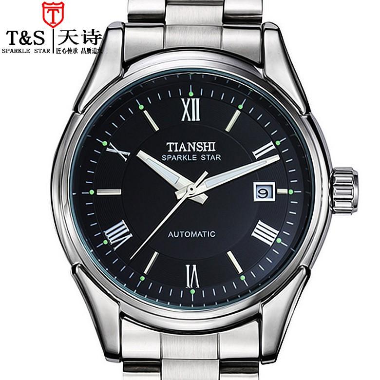 【新品上市】精鋼男士手錶全自動鏤空機械錶日曆夜光男款腕錶時尚男錶