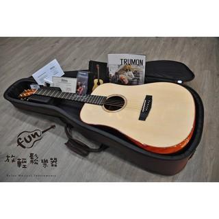 『放輕鬆樂器』全館免運費 楚門吉他 Trumon D-1852 歐洲雲杉面板 桑托斯玫瑰木側背板 全單板木吉他
