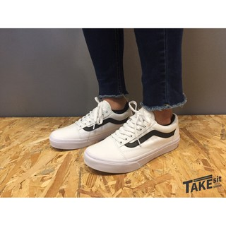 《Takesitshop》Vans Old Skool 白底黑線