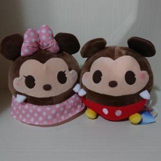 日本夾娃娃機限定茲姆茲姆米奇米妮娃娃 一組