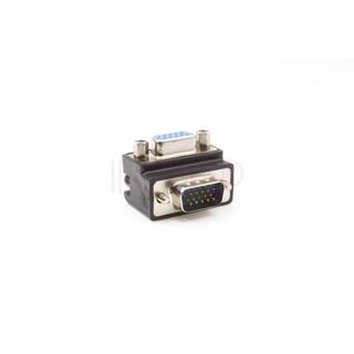 [ING小鋪] VGA線轉換頭轉接彎頭 轉接頭90度 直角彎頭 公對母轉換頭 L型 3排15公對母 VGA轉換頭