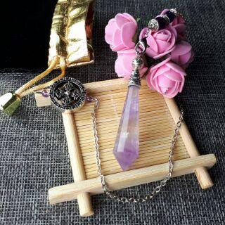 紫晶925銀鍊靈擺★甜蜜水晶★天然紫水晶靈擺♀  ♡0903A01-2♡