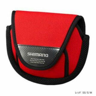 競工坊SHIMANO捲線器保護套/收納袋/保護袋PC-031L規格M號-紅適合3000~C5000型捲線器非Daiwa