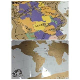 RECESKY正品ScratchMap刮刮環遊世界地圖海報壁裝飾創意雜貨