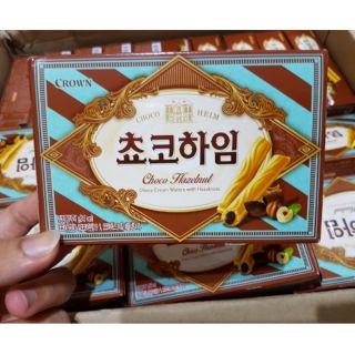 韓國 CROWN 榛果 巧克力威化酥 47g