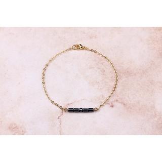【Chihuahua小商行】印尼設計品牌Bauble Bible BFF摩斯密碼 曜石黑手鍊(配件 飾品 珠寶  設計