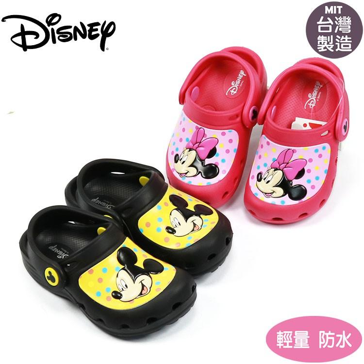 正版迪士尼米奇米妮兒童輕便園丁鞋.布希鞋.花園鞋 桃.黑15-20號117005.6