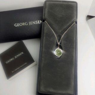 Georg Jensen 喬治傑生 經典款 Spirit 葡萄石 925純銀項鍊 機場購入