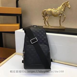 【美國直郵】Louis Vuitton LV 路易威登AVENUE SLING BAG黑棋盘格壓紋斜跨胸背包N41720