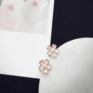 櫻花 耳環 夾