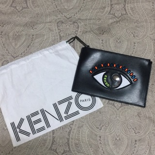 Kenzo 真皮大眼睛手拿包