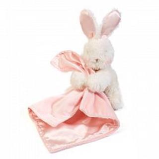 美國Bunnies By The Bay海灣兔,毛毛小兔玩偶手抱粉安撫巾,Bunny Blinkie