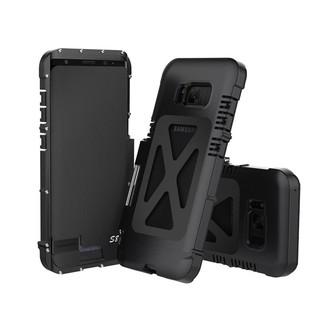 R-JUST金属外壳三星Galaxy S8 翻盖铝合金防震套装手机壳(黑色)