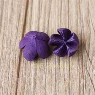 鄉村瘋園藝傢飾-鄉村風【鄉村Zakka日式雜貨--天然乾燥木荷果3顆裝(直徑約1-2cm)-紫色款-乾燥花圈素材】