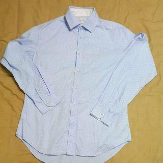 Zara 淺藍點點襯衫 長袖襯衫