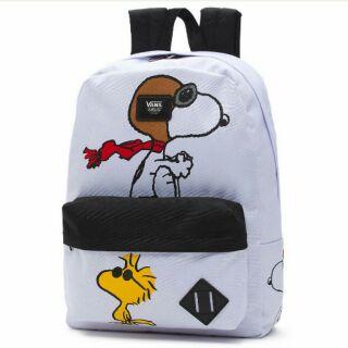 Vans 聯名 peanuts 史奴比 Snoopy 白色 後背包