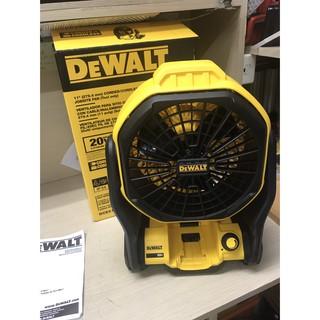 全新 平行輸入 美國 Dewalt dce511b 20v 得偉 511 充電式20V電風扇