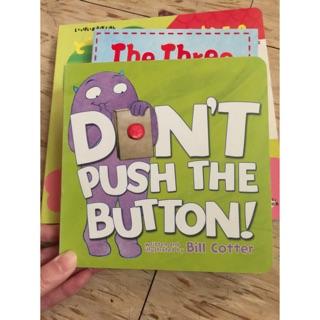 寶寶英文硬頁繪本 don't push the button