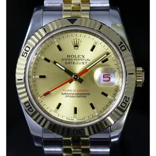 【錶最時尚】Rolex 勞力士 Turn O Graph 116263 半金款 爬山虎 金