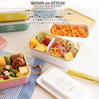 《預購》馬卡龍雙層造型便當盒/575ml/粉嫩五色(日本帶回)