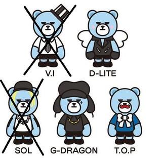 日本 現貨 KRUNK BIGBANG 熊 D-LITE 壓克力吊飾 約12㎝