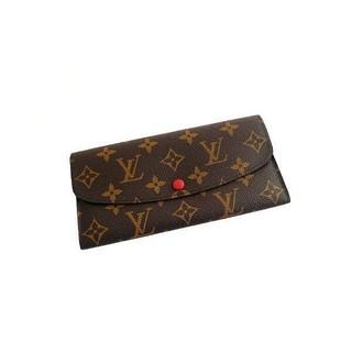 LV M60136 經典老花 紅釦長夾  LV女款錢包 零錢夾 卡夾
