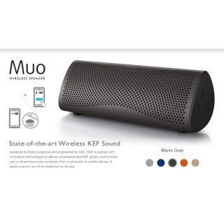 KEF MUO 發燒級無線藍牙喇叭 揚聲器 音響 (暴風灰)