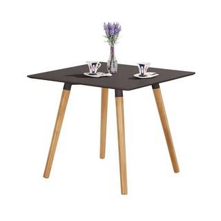 【GA957-3】 巴布黑色四方餐桌