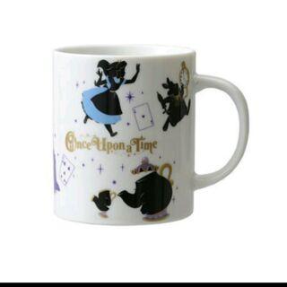 奇幻愛麗絲Alice 時鐘兔 溫度變色馬克杯 杯子 美女與野獸 茶堡太太 粉紅 紫色 時鐘兔