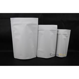 HBZ201 純白 白牛皮紙 一磅 專業咖啡豆包裝袋 夾鏈站立袋 可裝 瑞士單向排氣閥 100入