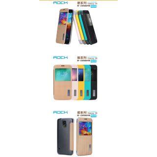 SAMSUNG ROCK 三星Galaxy S5 G900智能休眠 雅系列側翻皮套