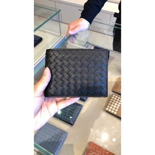 <8號倉> Bottega Veneta 113993 Nero Wallet 編織短夾 黑
