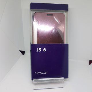 三星 j5 2016鏡面智能顯示手機套,前後全包軟套,電鍍鏡面鋼化膜。