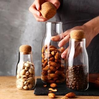 現貨 透明玻璃軟木塞玻璃瓶 收納瓶 儲物密封罐