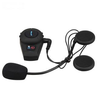 500m摩托車頭盔藍牙耳機無線對講耳機 滑雪頭盔藍牙摩托車對講機耳機 歐規電源 1個 黑色