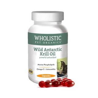 美國Wholistic野生南極磷蝦油-狗狗專用/60顆