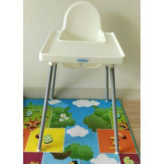 babyhood兒童餐椅兒童高腳餐椅(白色)可自取