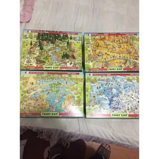 賣二手4幅動物園拼圖(各1000片)