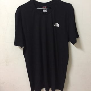 The north face 黑色小LOGO tee