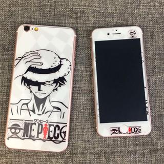 現貨iPhone 8 7 6 海賊王 雙面滿版i8卡通保護貼 i7保護膜 全屏i6玻璃貼 6s   plus 9H鋼化膜