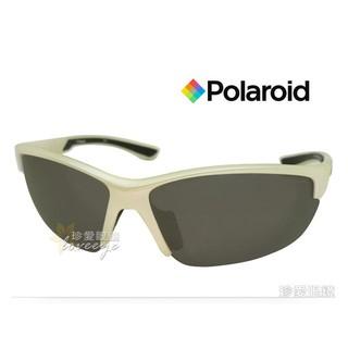 【珍愛眼鏡館】Polaroid 寶麗來 羽輕包覆運動偏光太陽眼鏡 P7409C 搶眼白框深灰偏光鏡片 %23 7409