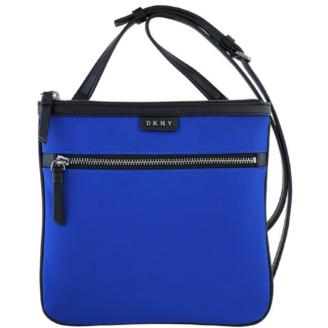 【馬貝爾美國精品百貨】DKNY 藍色輕量尼龍斜背包