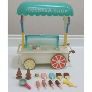 森林家族 絕版非復刻 冰淇淋攤車 日版 二手