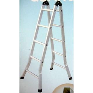 安全再升級! 6尺 擴孔焊接 二關節梯 5尺 7尺 8尺 9尺 10尺 折疊梯 梯子 鋁梯 A字梯 單梯 兩用梯