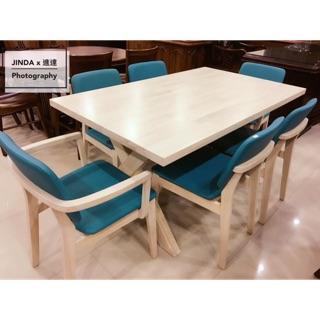 北歐風白橡木全實木餐桌椅