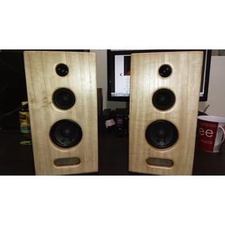 手工製3音路3吋 書架音箱 書架喇叭 原木音箱 實木音箱 三音路三吋原木喇叭 音箱