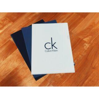 Calvin Klein 專櫃CK簡約黑.白.灰文件夾