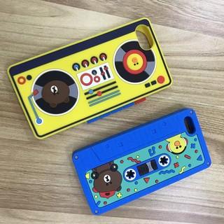 新款歐美錄音機黄鴨懶蟲熊熊出沒軟殼保護殼iPhone6/6plus/iPhone7/7plus立體個性手機保護殼